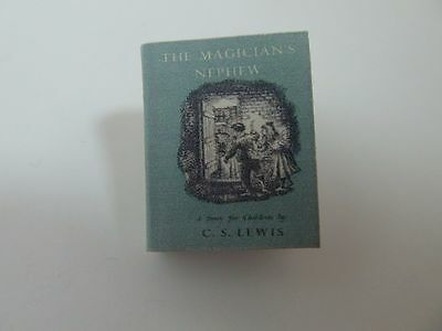 Dolls House Miniature 1:12 Scale Library Printed The Magicians Nephew Book