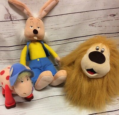 The Magic Roundabout Dougal Plush Bag, Dylan & Ermintrude Soft Toys