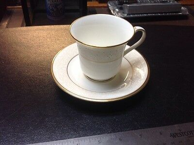 Noritake White Palace #4753 Cup And Saucer Japan Gold Trim Coffee Cup