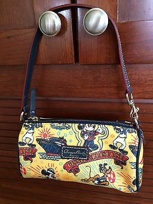 Disney Dooney & Bourke Purse Barrel Bag Yellow DCL Cruise Line Mickey Nautical