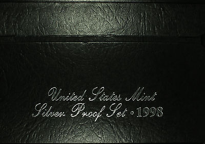 United States Mint Silver Proof Set  1998 S  Birth Year