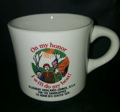 Vtg BSA Allegheny Highlands Cncl for the Handicapped On My Honor Boy Scout Cup