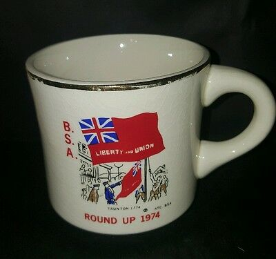Vtg BSA Tauntun Round Up 1774 1974 Liberty and Union Boy Scout Coffee Cup Mug