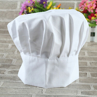 1pc Chef Hats Fit All Elastic White Cap Cooking Baker Kitchen Restaurant New