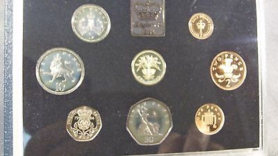 1984 United Kingdom Proof Coin Collection 8 coins in Original Packaging with COA