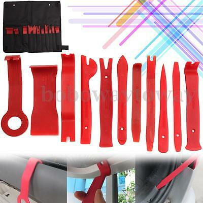 11pcs Seal Trim Removal Pry bar Panel Door Interior clip remover kit Hand Tools