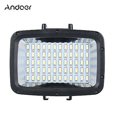 Andoer 60pcs LED Diving Fill-in Light Ultra Bright 1800LM Waterproof Underwat...