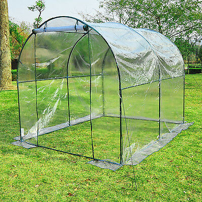 8' x 6' Dome Walk In Greenhouse Garden Plant Shed Vegetables Grow Tent Backyard