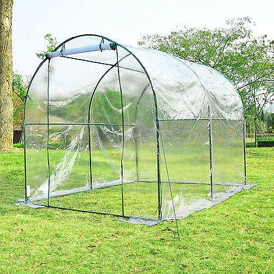 Outsunny 8' Dome Transparent Greenhouse Garden Plant Shed Grow Tent Tunnel