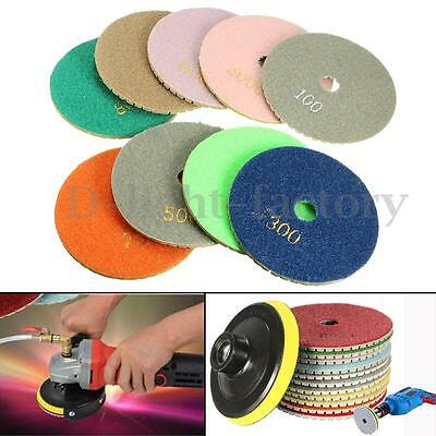 10cm/4'' Diamond Polishing Pads Wet/Dry Granite Marble Concrete Stone Any Grits