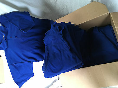 New 37 Trackman size XXL polo shirts royal blue itemised job lot CL191216D