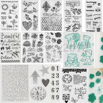 Silicone Transparent Clear Rubber Stamp Sheet Cling Scrapbooking Card DIY Craft