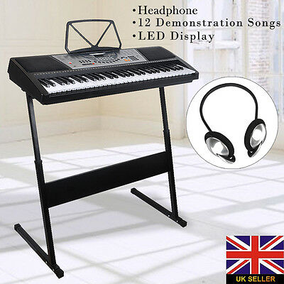 Electric Keyboard Piano Digital Keys 61 Electronic Music Organ Display Key Stand