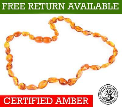 100% Genuine Baltic Amber Beads Child Necklace Honey - UK distributor - NE0027C