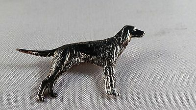 Nice Sterling Silver Red Setter Type Dog  Pin / Badge