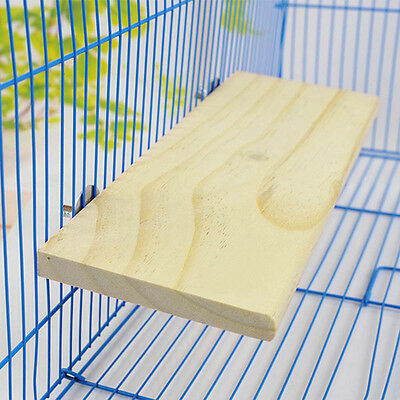 Wooden Cockatiel Parrot Bird Cage Perches Stand Platform Pet Budgie Hanging Toys