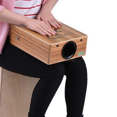 GECKO Traveling Cajon Box Drum Hand Drum Zebra Wood with Strap Carrying Bag K4D4