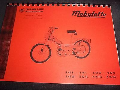 Motobecane Parts Manual Book For Series H40 Mopeds Of 1974 Onwards Mb01