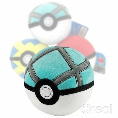 """New Pokemon Net Ball 5"""" Plush Toy Cosplay TOMY Official"""