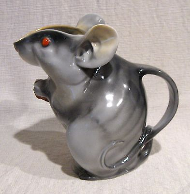 Royal Bayreuth Grey Mouse Water Pitcher