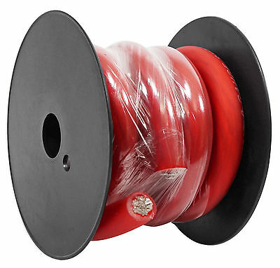 Rockville R0G5RED 0 Gauge AWG 5 Foot Red Car Amp Ground Wire Cable - High Grade