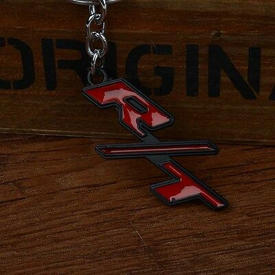 1pc Car Auto Metal R/T RT Logo Key Chain Key Ring Auto Accessories Red for Dodge