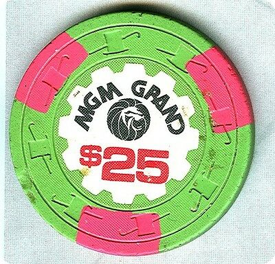 MGM GRAND CASINO (LAS VEGAS) $25 CHIP (N1287) (TCR-T RATED) (AVG).xls