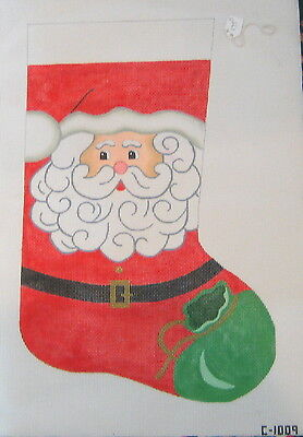 santa stocking hand painted needlepoint canvas