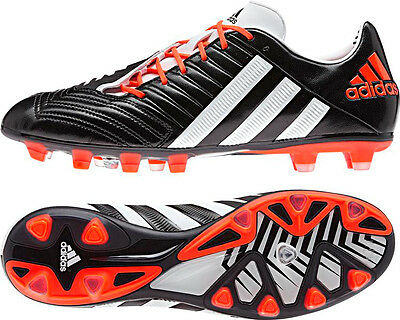 Adidas Predator Incurza Rugby Football Soccer Boots Black Wht Infra Red