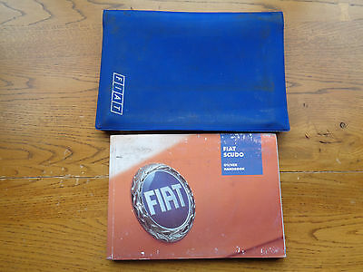 Fiat Scudo Owners Handbook/Manual and Wallet 00-03