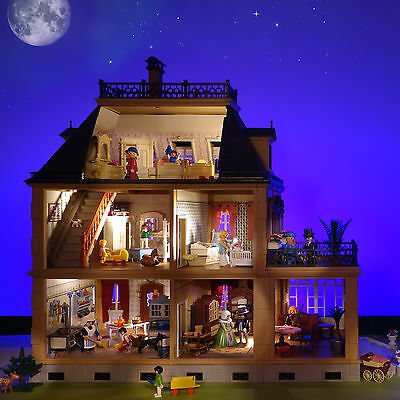playmobil nostalgie stadtvilla puppenhaus 5300 rosa mit erweiterung eur 299 90 picclick de. Black Bedroom Furniture Sets. Home Design Ideas