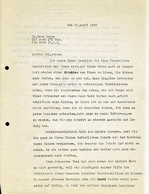 Albert Einstein - Typed Letter Signed 04/19/1949