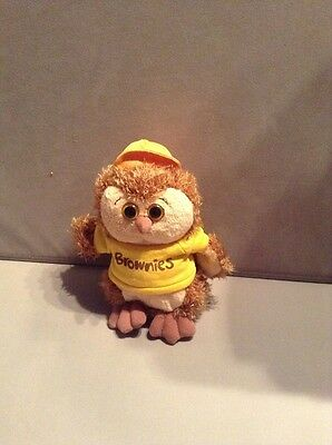 brownie guide owl soft toy approx 16 cm