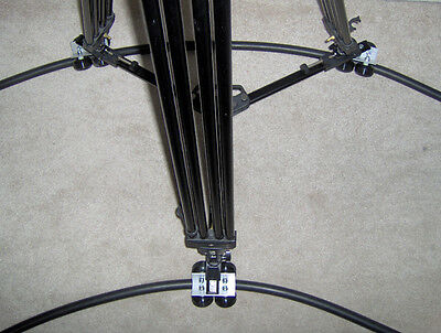 Portable Camera Dolly with 36ft. of Rubber Flex Track   crane