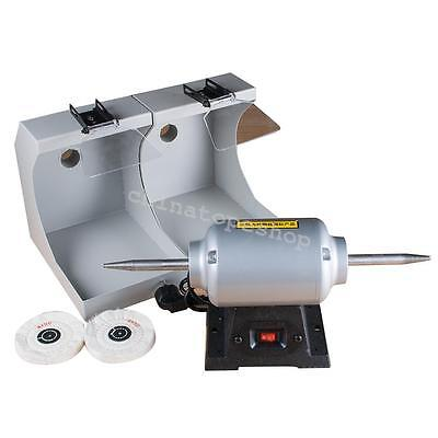 DENTAL Lathe polishing machine & 2 DUST hoods For jewelry shop powerful 3000rpm