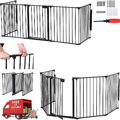 Metal Fireplace Fence Protection Baby Safety Hearth Fire Gate Pet Dog Cat