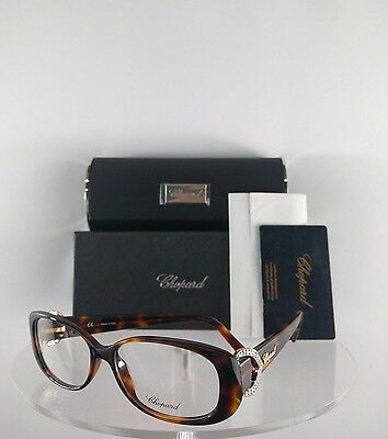 New Authentic Chopard Eyeglasses VCH 104S 0748 Made in Italy Tortoise Frame