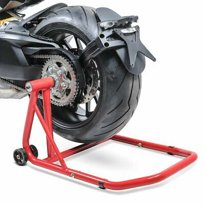 Bequille d'atelier arriere Ducati Hypermotard 796 10-12 rouge monobras