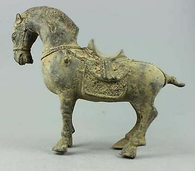 Collectible Decorated Handwork Bronze Carved Zodiac Horse ]4