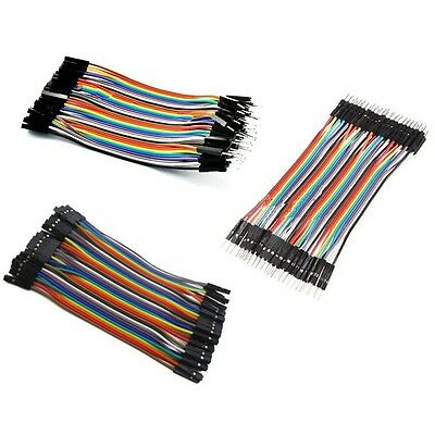 40PCS Male Female Dupont wire cables jumpers 10CM 2.54MM 1P-1P For Arduino U8