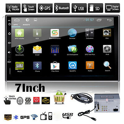 "7"" Android 2DIN Car GPS Navi Stereo MP3 Player FM Radio Bluetooth WIFI Head Unit"