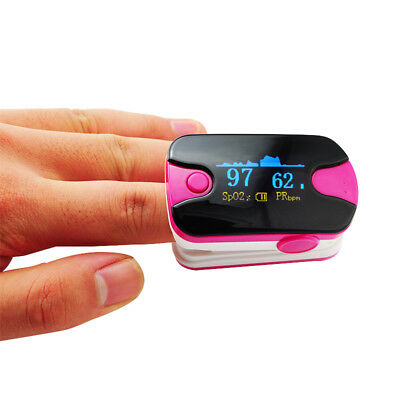 Finger Tip  Pulse oximeter SPO2 PR Checher  Heart Rate Monitor with Lanyard Case