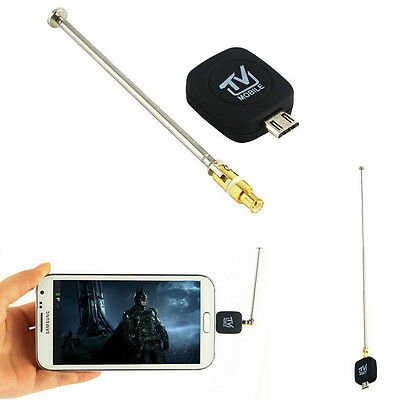 Micro USB DVB-T Digital Mobile TV Tuner Receiver+Antenna for Android Phone
