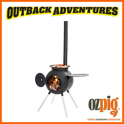 Ozpig Portable Outdoor Camping Wood Cooking Bbq  / Heater System