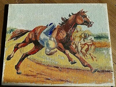 Paint by number pyrex canvas board horse