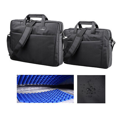 """CoolBELL® Laptop Bag Notebook Carrying Shoulder Bubble Pad Briefcase 15.6""""/17.3"""""""