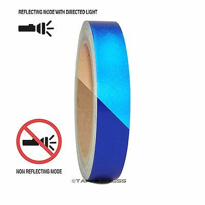 "1 Roll Blue 3/4"" x 30 feet Reflective Engineering Grade Tape Pinstripe"