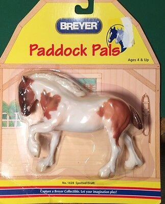 Breyer #1628 Paddock Pals American Spotted Draft Horse Chestnut Pinto NIP