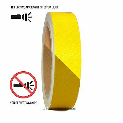 "1 Roll Yellow 1"" x 30 feet Reflective Engineering Grade Tape Pinstripe"