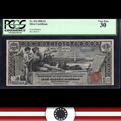1896 $1 Silver Certificate *EDUCATIONAL NOTE* PCGS 30, Fr 224   8800558